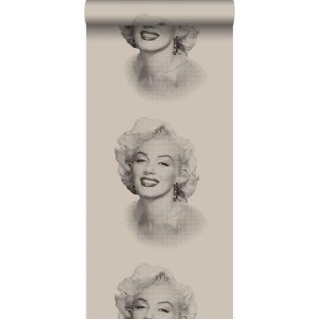 behang Marilyn Monroe grijs en zwart van Origin