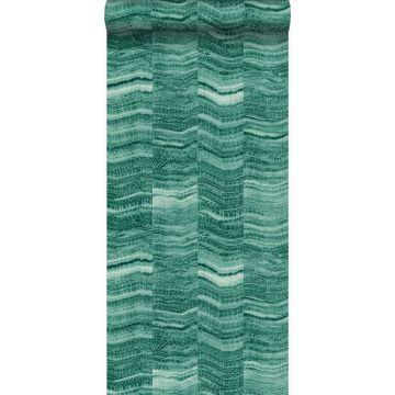 behang marmer motief smaragd groen van Origin