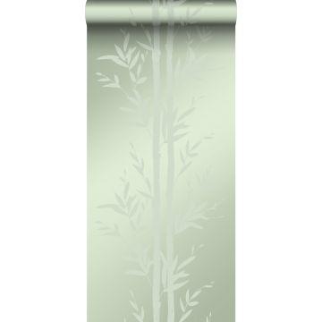 behang bamboe olijfgroen van Origin