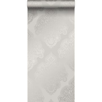 behang ornamenten taupe van Origin