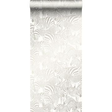 behang zebra's zilver van Origin
