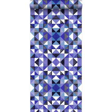 behang kubisme paars van Origin