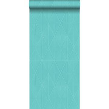 behang grafische vorm turquoise van Origin