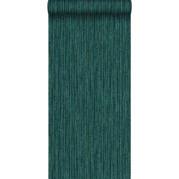 behang bamboe smaragd groen van Origin