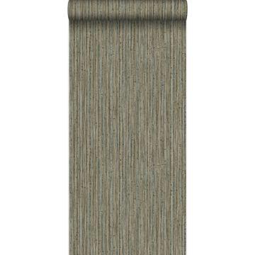 behang bamboe donker taupe van Origin