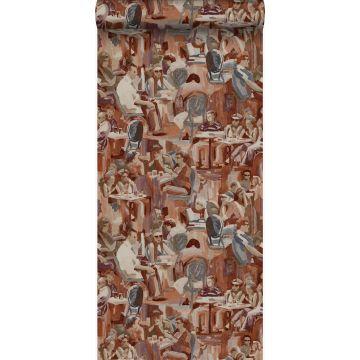 behang figuratief motief roest bruin van Origin