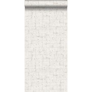 behang bakstenen gebroken wit van Origin