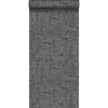 behang bakstenen zwart van Origin