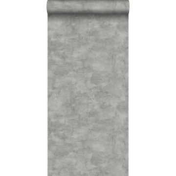 behang betonlook donkergrijs van Origin