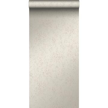 behang metaal-look warm zilver van Origin