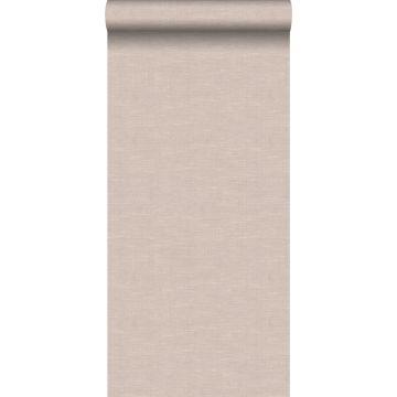 behang linnenstructuur lichtbruin van Origin