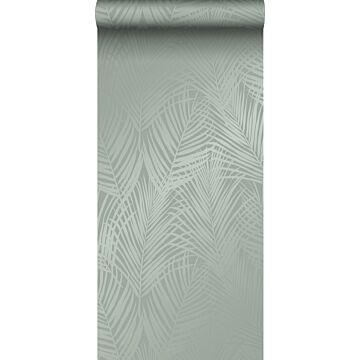 behang palmbladeren vergrijsd groen van Origin