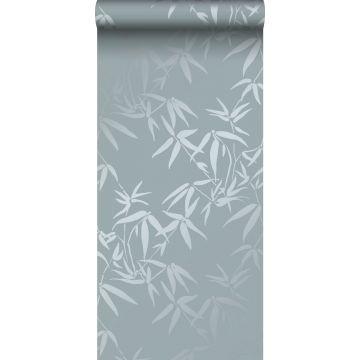behang bamboe bladeren blauw van Origin