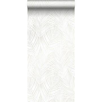 behang palmbladeren wit van Origin