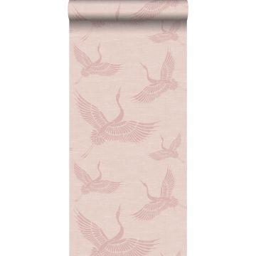 behang kraanvogels oudroze van Origin