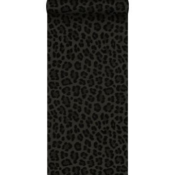 behang panterprint donkergrijs en zwart van Origin