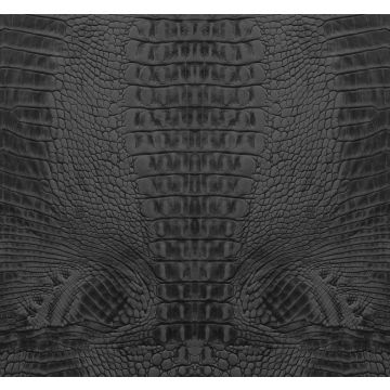 fotobehang krokodillenhuid zwart van Origin