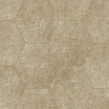 Origin zelfklevende eco-leer tegels hexagon zand beige