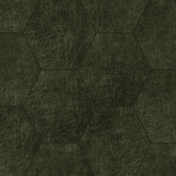 Origin zelfklevende eco-leer tegels hexagon olijfgroen