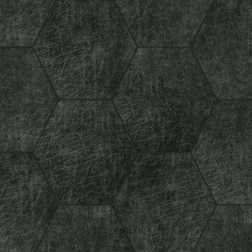 Origin zelfklevende eco-leer tegels hexagon antraciet grijs