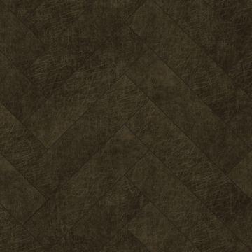 Origin zelfklevende eco-leer tegels visgraat-motief donkerbruin