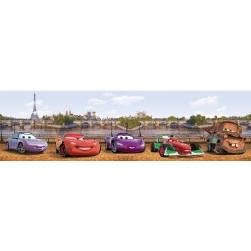 Disney zelfklevende behangrand Cars bruin en blauw