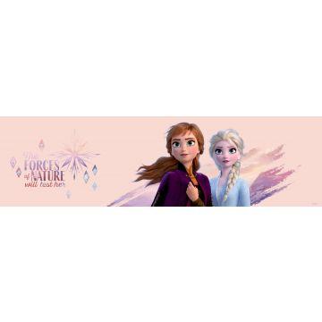 Disney zelfklevende behangrand Frozen licht perzikroze en paars
