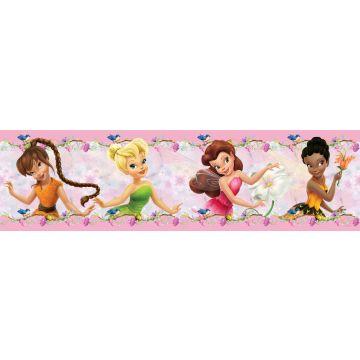 Disney zelfklevende behangrand feeën roze
