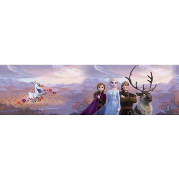 Disney zelfklevende behangrand Frozen paars, blauw en oranje